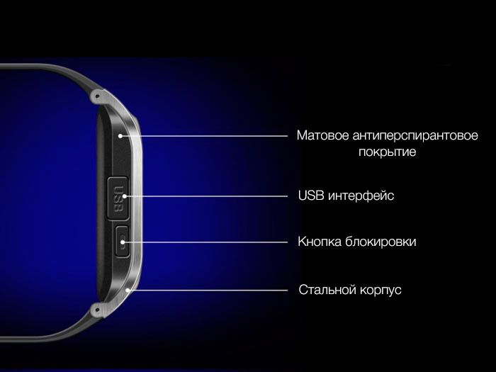 Smart Watch GV18 Black Дизайн