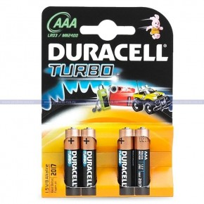 Duracell Turbo AAА LR03/MN2400 4шт.