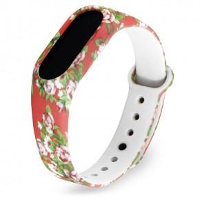 Ремешок Xiaomi Mi Band 2 (Цветы)